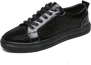 CAIFENG Zapatilla de Deporte de Moda para Hombres Zapatos Deportivos de Cordones de Cordones de Cuero de Cuero de Cuero de...
