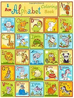 I Am Alphabet COLORING BOOK: activity books for preschooler - coloring book for Boys, Girls, ABC Coloring Book (Dover Litt...