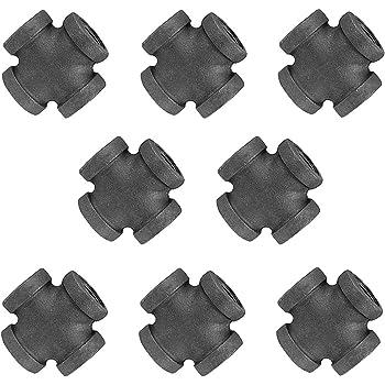 GPOWER Acoplamiento de tuber/ía de hierro fundido maleable de 1//2 pulgadas accesorios de acoplamiento de tuber/ías para bricolaje vintage muebles 20 unidades