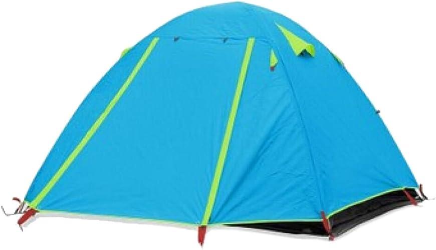 TZQ Double Deck Outdoor Aluminium Pole Tent,bleu