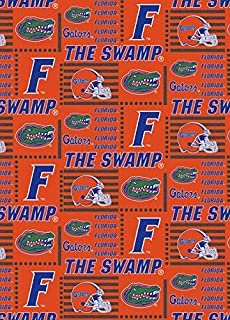 FLORIDA GATORS COTTON FABRIC-NEWEST DESIGN-OFFICIALLY LICENSED
