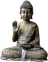 ZLBYB Resin Thailand Buddha Statue Vintage Bronze Sculpture Hindu Fengshui Figurine Meditation Miniature Home Decoration A...