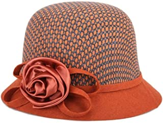 HongJie Hou Woolen hat, hat, hat, Winter, Cold (Color : Orange, Size : M56-58cm)