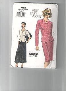 Vogue pattern 7492 *尺寸 14,16,18