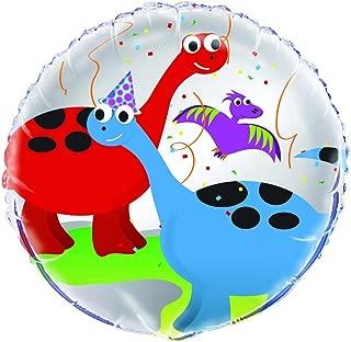 """Unique Dinosaur Party Foil Balloon, Multi, 45cm (18"""")"""