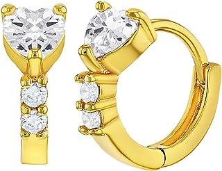 Plaqu/é or 18k Petit Anneau Boucles doreilles 10mm Enfants In Season Jewelry