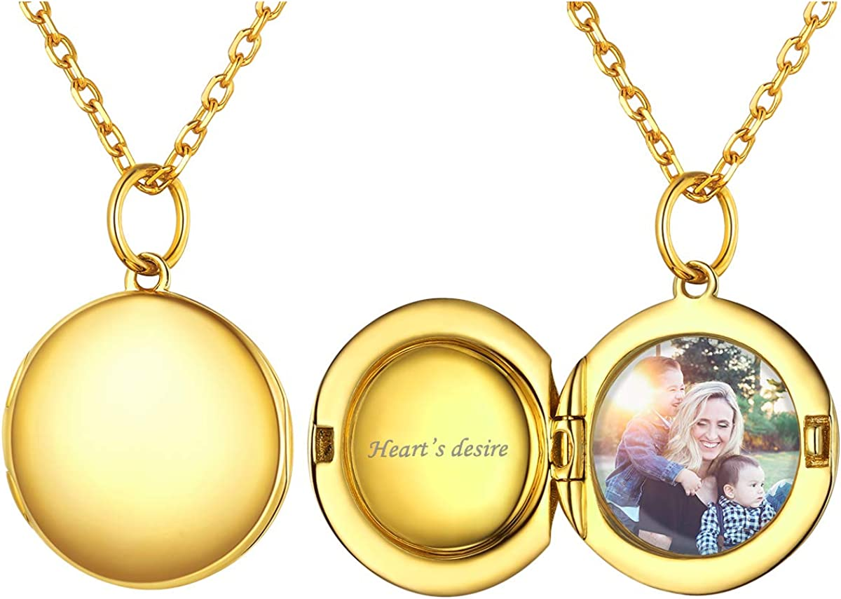 ChicSilver Personalized Safety and trust Round Circle 100% quality warranty 925 Locket Necklace Pendant