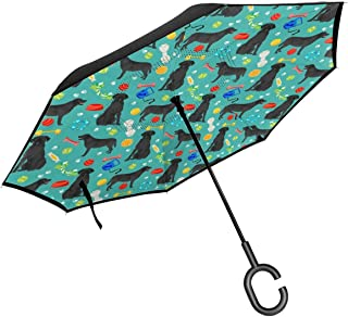 Star Inside Square Shaped Kaleidoscope Tie Dye Effect Print Outer Figures Image Inverted Umbrella Cars Reverse Umbrella Music Notes Vintage Windproof UV Proof Travel Outdoor Umbrella
