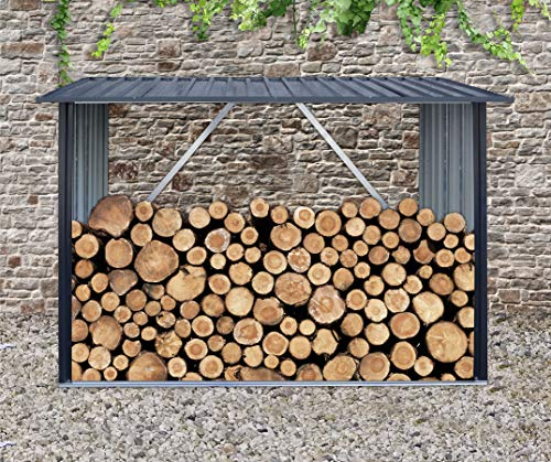 Amagabeli 3FTx30.7in Large Wide Firewood Rack Fireplace Tool Rack Indoor Outdoor Kindling Holder Heavy Duty Wood Storage Log Rack Holder Stacker Stand Tools Stove Accessories Black Without Cover