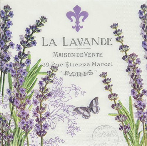 Paperproducts Design Design Lunch Serviette mit exquisiter La Lavande Design, 16,5 x 16,5 cm...