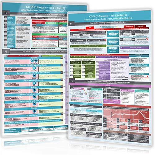 ICD-10 (F) Navigator Duo-Set komplett (2020) - Ideal zur Prüfungsvorbereitung für Heilpraktiker Psychotherapie (PSY) - Teil 1 & 2 (F0 bis F9):: - ... (Neue, komplett überarbeitete Ausgabe (2020))