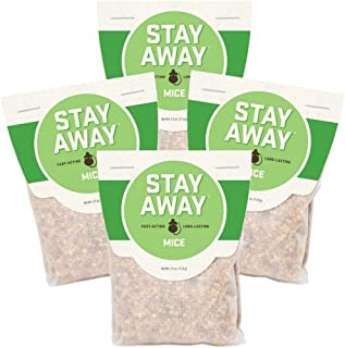Stay Away Mice Repellent Pest Control - All Natural, Repels Mice with No Mess,and Environmentally Friendly, 4 Scent Pouches (Not for Sale in DC, NM, MS, CT, ME, SD, in, PR)