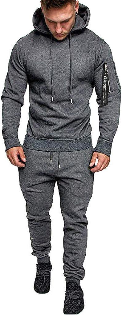 買い物 Gergeos Hoodies Sports Suits for Tracksuit 高額売筋 Slim Mens Fit Fashion