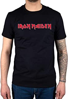 AWDIP Men's Official Iron Maiden Logo T-Shirt Vintage Classic Heavy Metal Band