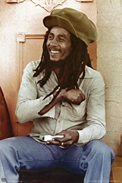 Bob Marley (Sitting, Rolling Joint) Music Poster Print - 24x36 People Poster Print, 25x35