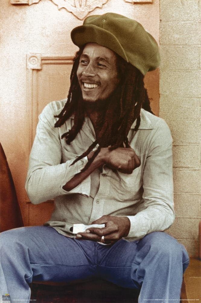 Bob Marley Wall Art Print Photo Print Poster Picture reggae spliff smoking.