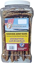 product image for Wholesome Hide Rawhide and Dried Duck Jerky Bars 2 Pound Jar