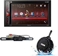 2018 Pioneer Car Audio Double Din 2DIN 6.2 Touchscreen DVD MP3 CD Stereo Built-in Bluetooth with DiscountCentralOnline HL09 Waterproof Nightvision Back-up Camera