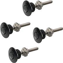 X AUTOHAUX 4 Set Black Silver Tone Bumper Quick Release Latch License Plate Clip Hood Pins Lock for Car 1.25 100mm