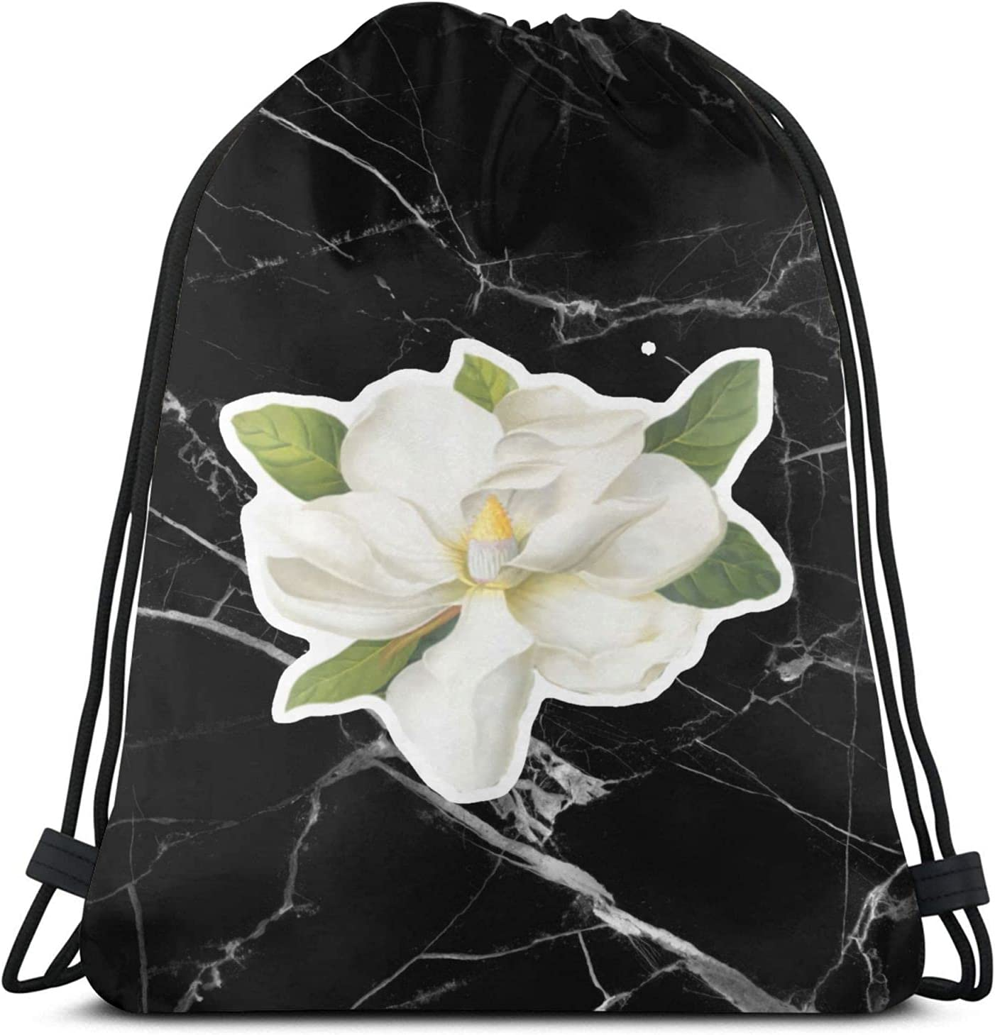 Magnolia Blossom Drawstring Backpack Sackpac excellence Max 67% OFF Sport Bag Workout