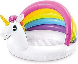 Hemisgin Piscina Piscina Inflable para Bebés con Sombra De Unicornio Piscina Inflable con Toldo para Que Los Niños Jueguen En El Jardín Playa Al Aire Libre Dependable