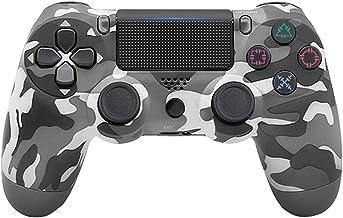 Controlador De Juego Inalámbrico,Camuflaje gris,Controlador Inalámbrico Ps4 Bluetooth 4.0 Mango Joystick Mando Game Board para Ps4 Ps3 Playstation 4