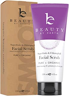 Face Scrub Exfoliating Face Wash - Natural & Organic Face Cleanser and Face Exfoliator for Women & Men, Facial Scrub Microdermabrasion, Exfoliating Face Scrub & Vegan Facial Wash Skin Care Products