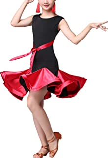 Rumba Samba ChaCha Stage Performance Dresses Ballroom Costume Party Carnival Outfits Princess Dress SPDYCESS Latin Dance Dress Fashion Sleeveless Dancewear