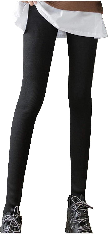 W/B Women Autumn Winter Tight Cotton Pants,Solid Color Slim Trousers Straight Leggin.