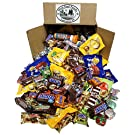 Chocolate Box (5 LBS) Halloween Assortment of M&M's Candy, Snickers, MilkyWay, and Many More, Bulk Fun and Mini Size Snacks for your Christmas Stockings Gift, Party, Buffet, or Pinata