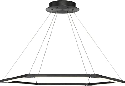 WAC Lighting PD-14032-BK Lune Hanging Lighting, Black