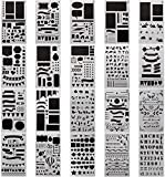 Ponangaga 20 Pezzi Bullet Gazzetta Stencil Set Bullet Journal DIY Drawing Template Album Disegno Plastica Planner per Scrapbooking Card Diario e Progetti Artistici Creativi Fai da Te 18 x 10.8 cm