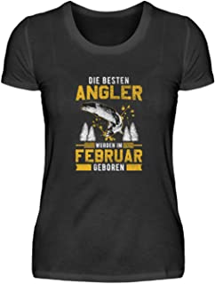 Angel-n Fisch-en - Camiseta de manga corta para mujer, diseño de pescador