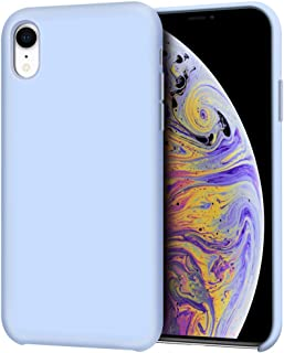 """Anuck iPhone XR Case, Anti-Slip Liquid Silicone Gel Rubber Bumper Case with Soft Microfiber Lining Cushion Slim Hard Shell Shockproof Protective Case Cover for Apple iPhone XR 6.1"""" 2018 - Light Blue"""