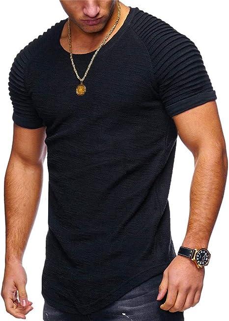 Camiseta para Hombre, Cuello redondo para hombre Camiseta de ...