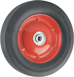 Titan Pneumatic Replacement Wheel 55 lb. Load Capacity with Metal Hub 8 Inch, Red/Black