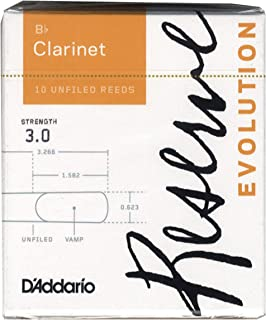 D'Addario Woodwinds DCE1030 Reserve Evolution Bb Clarinet Reeds, 10-Pack, Strength 3.0