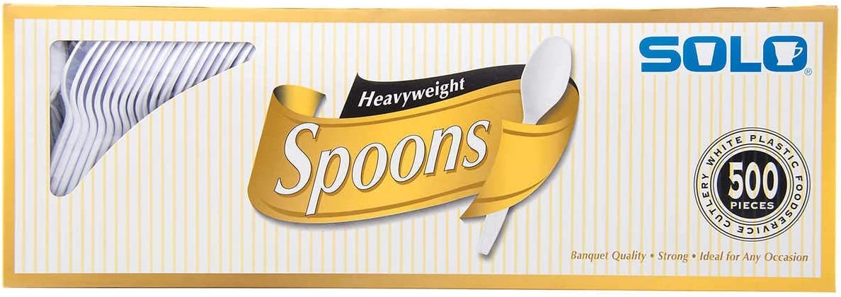 Max 52% OFF SOLO Plastic Spoon Long-awaited 500ct White