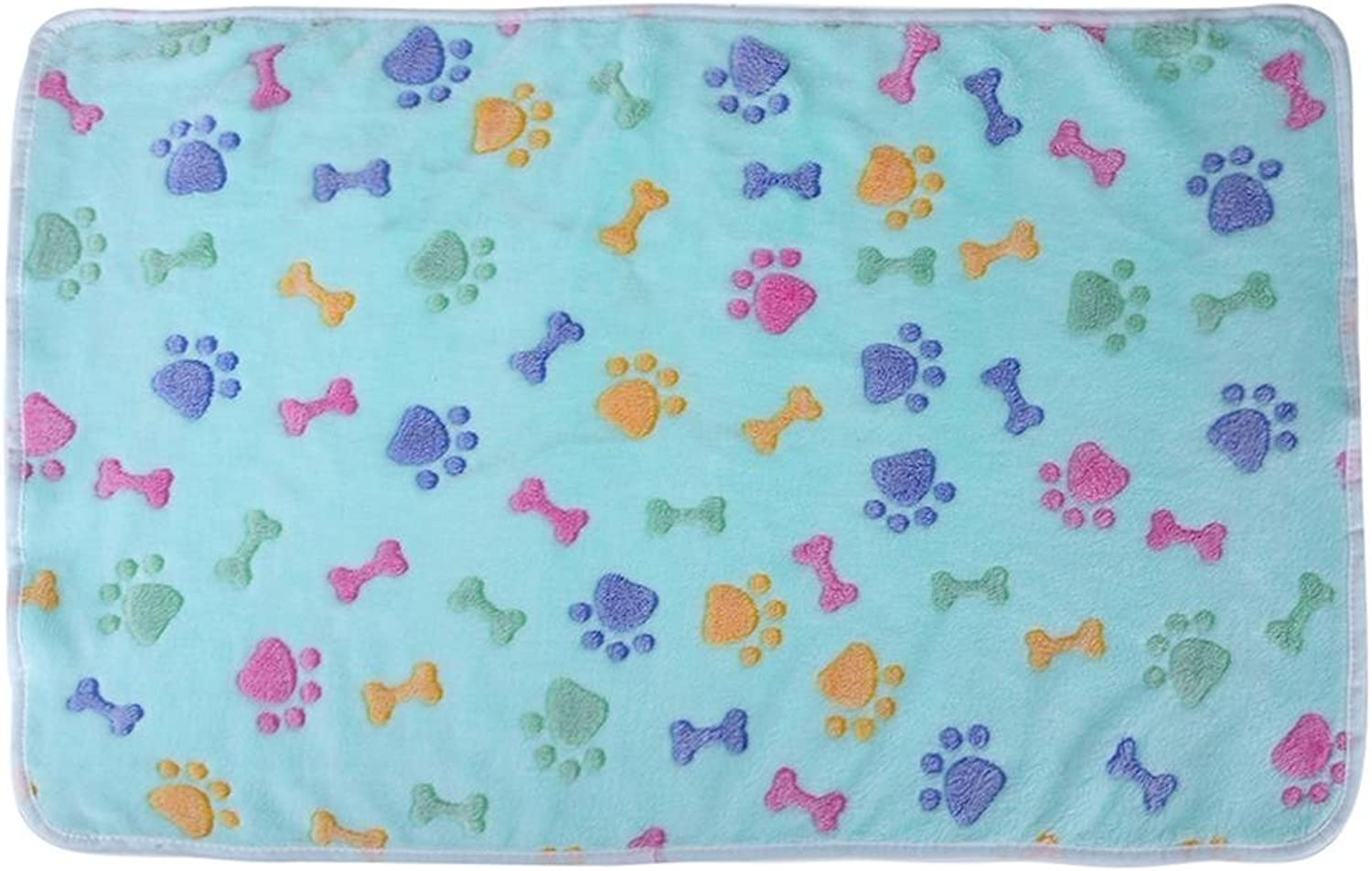 Comfortable and Warm Warm Soft Coral Velvet Pet Blanket Sleep Mat Dog Bed Puppy Cushion(bluee XS)