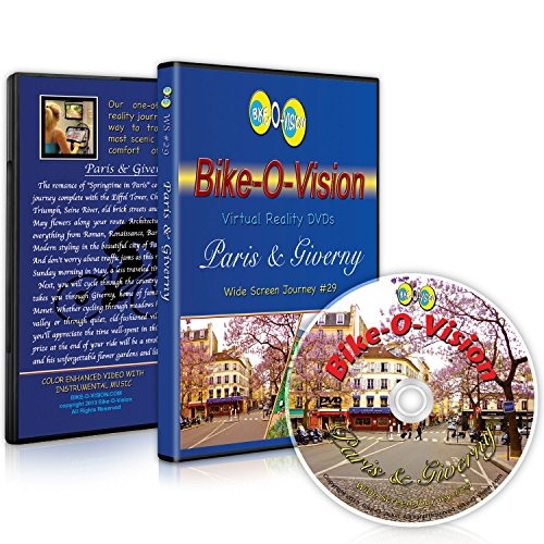 Bike-O-Vision - Virtual Cycling Adventure - Paris & Giverny - Perfect for Indoor Cycling and Treadmill Workouts - Cardio Fitness Scenery Video (Widescreen DVD #29)