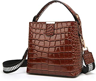 BUKESIYI Damen Tasche Umhängetasche Handtasche Frauen Klein Schultertasche Weekender Lack PU Leder CCDE77224
