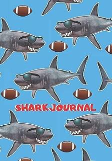 Shark Journal: Fun Shark Football Themed Primary Journal for Boys