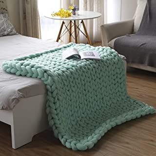 LICHUXIN Grand plaid moderne tricoté à la main pour canapé, lit, tapis de yoga, décoration d'intérieur, cadeau (couleur : ...