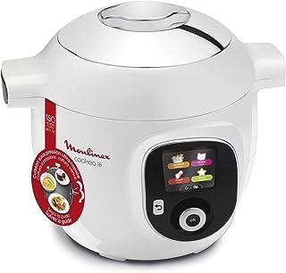 Moulinex Olla multicocción inteligente de alta presión, 6 litros, 150 recetas, 6 modos de cocción, guía paso a paso, uso fácil y rápido 150 recetas, recipiente blanco blanco