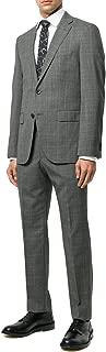 Hugo Boss Men's 'Johnstons/Lenon' Grey Slim Fit Virgin Wool Checked Suit, 36R