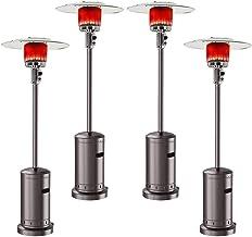 D-Lumina 4 Set Outdoor Gas Patio Heater Commercial Outdoor Heater Standing Outdoor Heater Stove Propane Gas Portable 46000...
