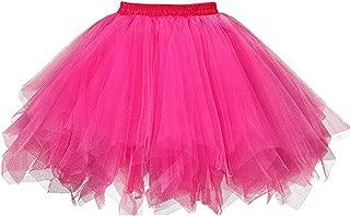 Womens Short Tutu Costume Tulle Skirt Dance Multi-Colored Party Petticoat