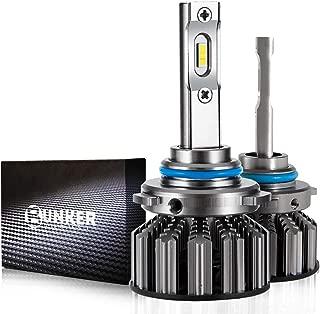 BUNKER INDUST 9005/HB3 LED Headlight Bulbs, A4 Series 9600LM Super Bright Headlights Conversion Kit, 6000K Cool White IP67 Waterproof,