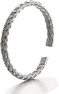 Epinki Stainless Steel Men Bracelet Weave Open Woven Shape Men Bangle Bracelet