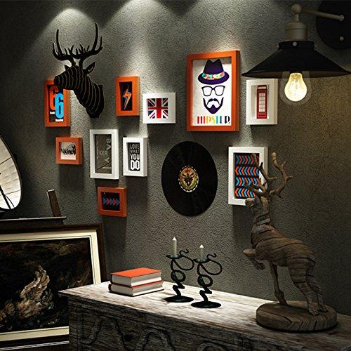 La Boutique Support mural dans Tête de cerf mur Salon de coiffure créatifs Vêtements Accessoires Rétro Salon. suspendus ornements ? dassder Film Black & White Box peinture + décoration murale